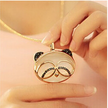 latest Fashion Sweet Cute Adorable Nanda Opal Glasses Long Necklace Jewelry Factory Direct(China)