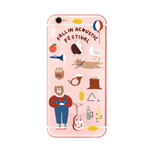 2017 Fashion cartoon summer cool clear thin owl cat duck bear violin orange balloon soft tpu cell phones case cover For Iphone(China)