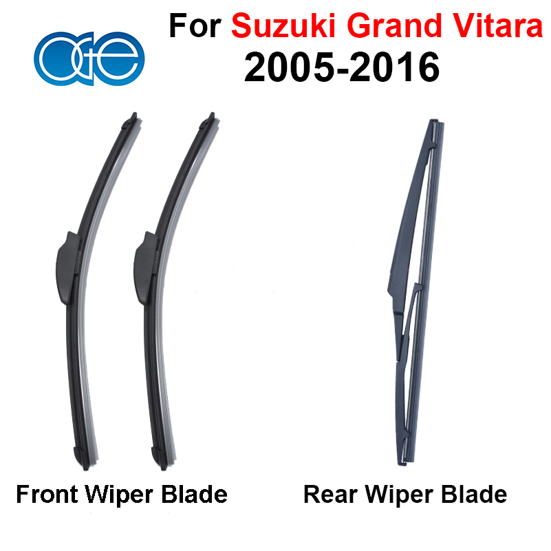 Combo Silicone Rubber Front And Rear Windscreen Wiper Blade For Suzuki Grand Vitara 2005-2016 Windshield Best Auto Accessories<br><br>Aliexpress