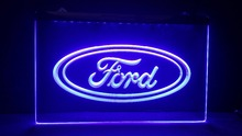 tr02 Ford car beer bar pub club 3d signs LED Neon Light Sign MAN CAVE(China)