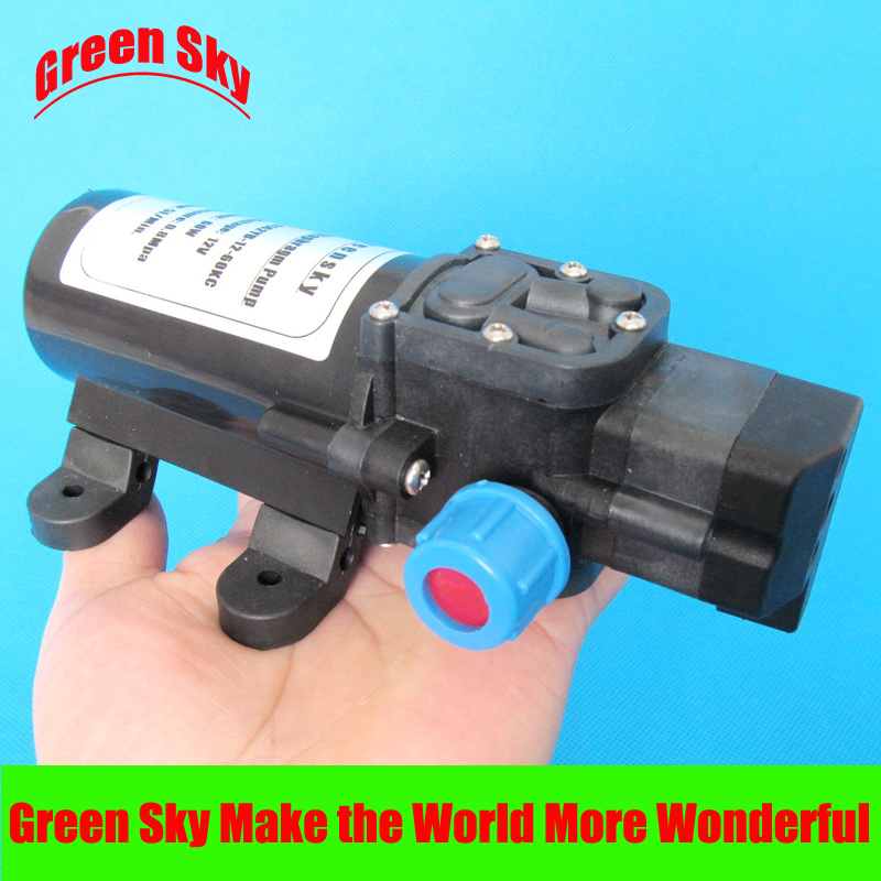 5l/min 60W 12v dc automatic pressure switch type with on/off button and socket self-priming reciprocating diaphragm pump<br><br>Aliexpress