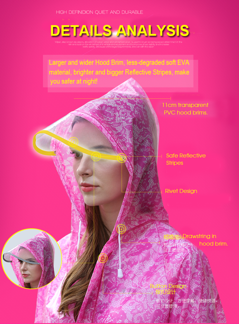 Women Lace Raincoats 15