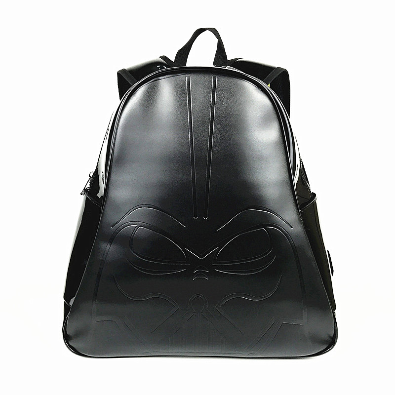 New Arrival Star Wars Backpack Full PU Leather Water Proof Darth Vader School Bags for Young<br>