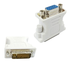 High Quality VGA Female to DVI 24+5 Pin Male Adapter to 15 Pin VGA Female Connector Extender Converter