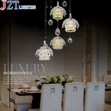 M Best Price LED 3 Heads Restaurant Lights Crystal Chandelier Lamp Modern Minimalist Dining Room Creative Dining Lamps Lighting