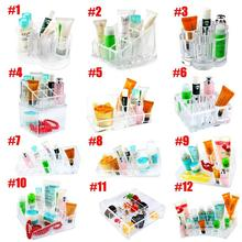 Sale Multi-style Clear Acrylic Organizer Cosmetic Makeup Jewelry Storage Lipstick Brush Case Cabinet Box EQC347(China)