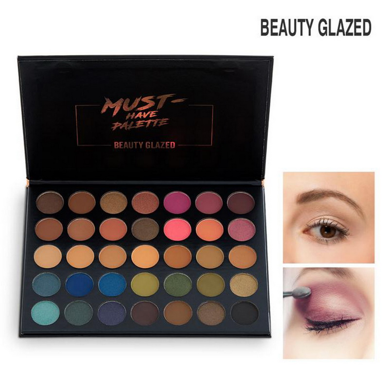 Glitter 20 Colors Eyeshadow Palette Eyeliner Pigment Mascara Makeup Kit For Daily Eye Palette Maquillage Yeux Beauty Glazed #68 Eye Shadow Beauty Essentials