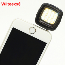 WILTEEXS Phone flash lighting Selfie Night enhancing 3.5mm studio led light for sumsung Pocket Spotlight lamp mobile video photo(China)