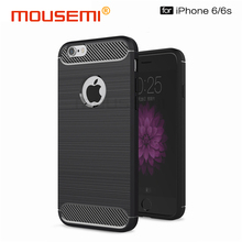 Carbon Fiber Case For iPhone 6 Case Silicone Soft Fitted Shockproof Coque For iPhone 6 6S Cover Case For iPhone 6 6s Phone Cases(China)
