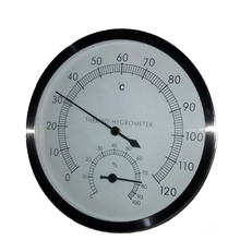 Sauna Room Accessories Stainless Steel Case Hygrometer Thermometer