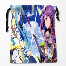 Best Japanese Anime Drawstring Bags Custom Storage Printed Receive Bag Compression Type Bags Size 18X22cm Storage Bags(China)