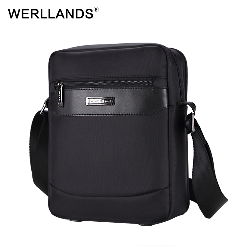 WERLLANDS 2017 New Fashion Man Bag Oxford Mens Messenger Bags Famous Brand Small Crossbody Bag Travel Black Male Bags For iPad<br>