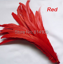 Rooster tail feather Red Colors DIY feather clothing  jewelry accessories / wedding Party supplies performance necessary