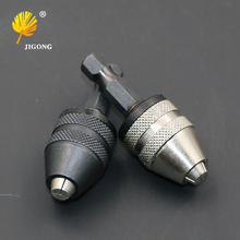 1pc Keyless Drill Chuck Screwdriver Impact Driver Adapter 1/4 '' Hex Shank Drill Bit Tool Sliver Black Color (China)