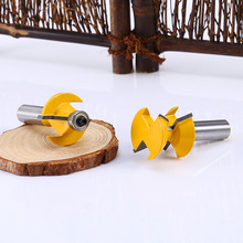 "2Pcs/sets Matched Tongue & Groove 1/2"" Shank Router Bits Set 120 Degree Edge Banding Cutter Tool Durable Wholesale(China)"