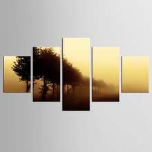 5 pieces/set yellow sky sand city storm landscape painting canvas mural art home decoration living room canvas print modern pain