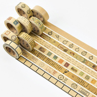 1 piece/lot Vintage Kraft Paper Washi Tape 1.5mm*7m Retro High-quality Notebook Album Decoration Supply Stationery Paper Tapes