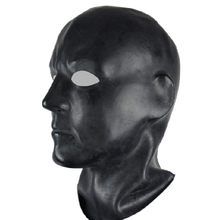 Buy Mould 3D Black latex human mask hood open eyes fetish hood