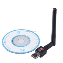 10 Pieces/ Lot  USB WiFi Wireless Adapter 150Mbps LAN Card  with 2DB Antenna IEEE802.11n/g/b Factory Sale