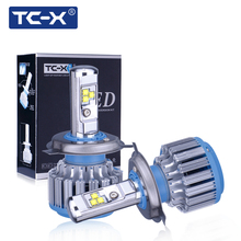 TC-X Car Lights LED Headlight Kit H7 H1 H4 H11 9006 9005 H3 880 Fog lamp(China)