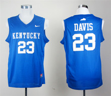 Free Shipping Nike Kentucky Wildcats Anthony Davis 23 Royal Blue Boxing Jerse(China)