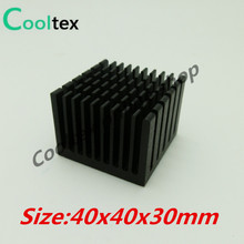 5pcs/lot 40x40x30mm Aluminum HeatSink Heat Sink radiator for electronic Chip LED RAM COOLER cooling(China)