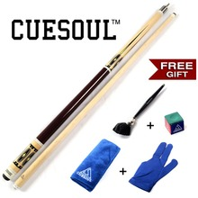 CUESOUL Pool Cue Stick with Free Gift For you!! Cue Towel+Billiard Gloves+Chalk Pen+Billiard Chalk CSPC003