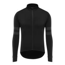 Spexcel 2017 new Top quality Black with Reflective stripe thermal fleece fabric long seleve cycling jersey for 10-20 degree ride