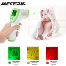 Digital LCD Non-contact IR Infrared Thermometer Forehead Body Surface Temperature Measurement Data Hold Function