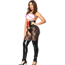 Buy ENGAYI Brand Women Fashion sexy lingerie hot Faux Leather Latex Sexy Costumes Nuisette Lenceria Sexy Underwear Bobydolls A1075