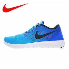 Nike FREE RUN Men and Women Running Shoes,Blue, Breathable Shock Absorption Lightweight,Outdoor Sneakers Shoes 831508 404(China)