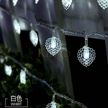 2pcs/lot Love heart shape10M 100Led String Lights Fairy Lights for Wedding party livingroom birthday Christmas stage decoration