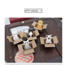 5PCS Animal Puppy Kitty House Kawaii Sticky Notes Post It Memo Pad School Supplies Planner Stickers Paper Korean Stationery(China)