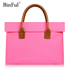 Binful 11.6 13.3 14 15.6 inch Women Laptop Bag for MacBook 12 Air Pro 13 15 Acer Asus Notebook Handbag Case(China)
