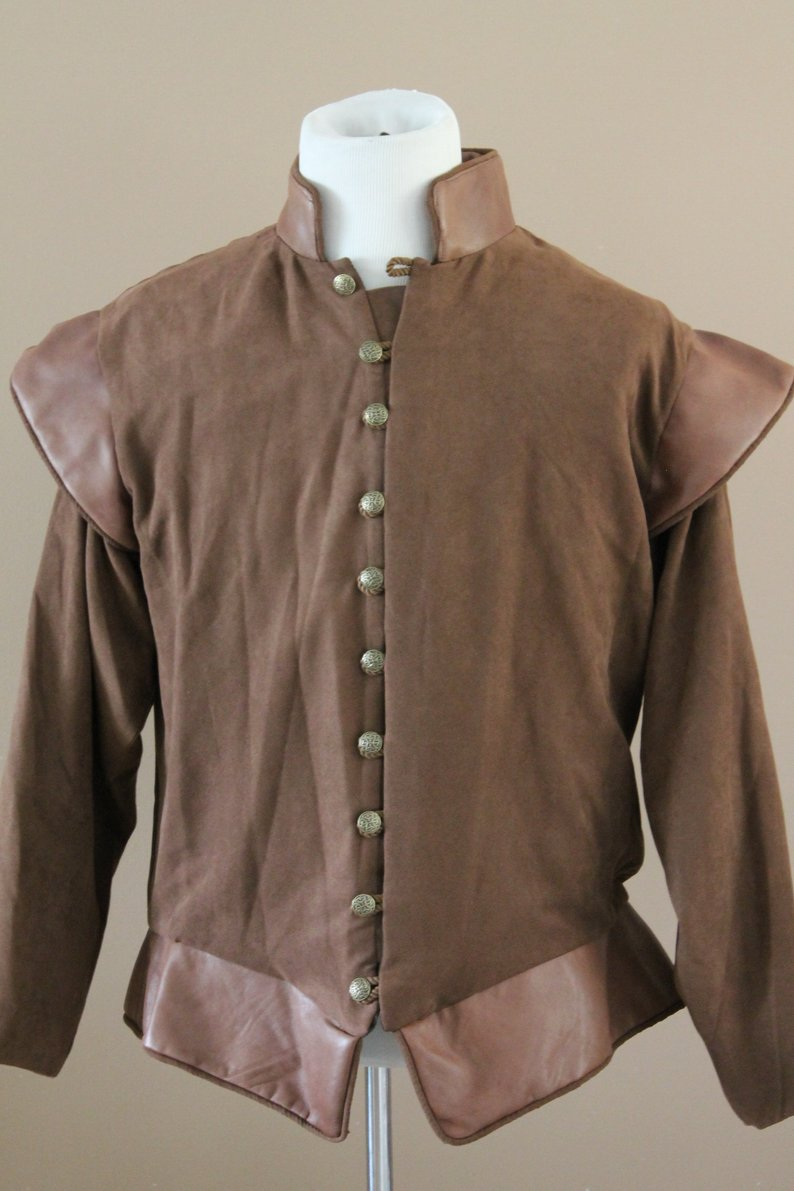 Tudor Doublet The Tudors King Henry Renaissance Medieval Mens cosplay Costume Lords Doublet