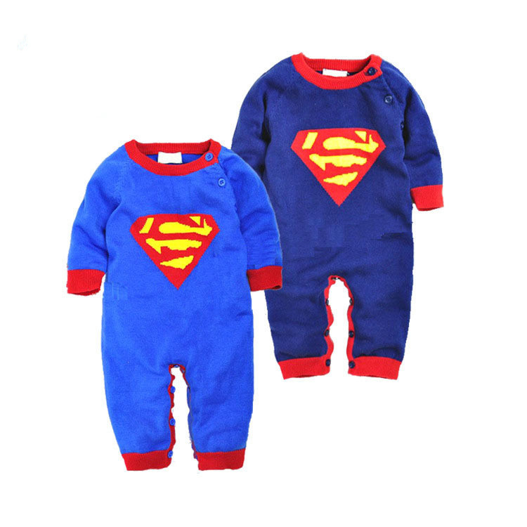 Hot Sale Baby Romper 2015 New Arrive  Soft Unisex superman Warm Clothing Roupas De Bebe<br><br>Aliexpress