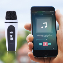 Mini  Audio Condenser Microphone Mic Digital Mobile Karaoke Studio Sound Recording for IOS/Android phone  laptop L3FE