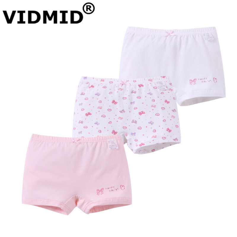 4 Pack Girls Boxer Shorts Underwear Briefs Cotton Knickers Age 3-10 years