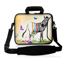 "Free Shipping Zebra 13."" 13.3"" Laptop Bag Case Cover With Outside Handle + Shoulder Strap"