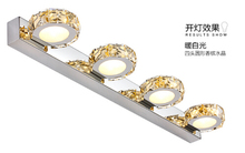 Luxurious crystal led 12w bathroom aisle Waterproof IP65 Wall light indoor hotel store lighting makeup mirror light