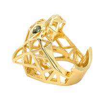 Green Eyes Leopard Panther Cocktail Ring for Men/ Women Crystals Jewelry Accessories RIA003(China)