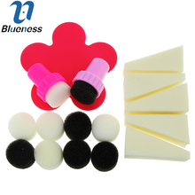 Beauty Nail Art Stickers Decals For Nail Tips Creative Sponge Scraper Set JH380