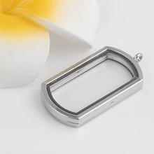 10PCS 4 Colors Dog Tag Locket Alloy Metal Floating Magnetic Living Glass Lockets Pendant without Chain(China)