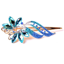 Top Quality Butterfly hairclips Fashion Rhinestones hairgrips Gold plated hair jewelry wholesale 4311