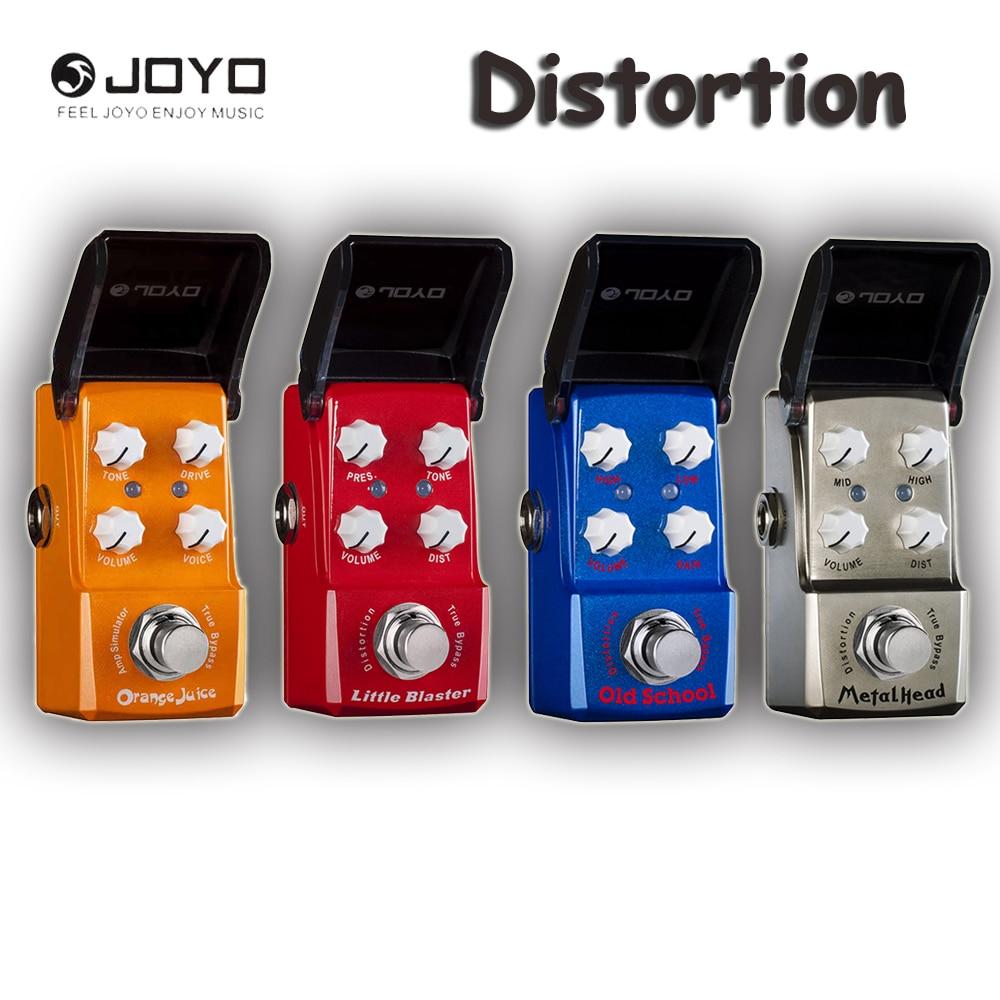 JOYO Ironman Series Distortion Guitar Effects Pedal, Little Blaster/Orange Juice/Old School/Metal Head and Power Supply<br>