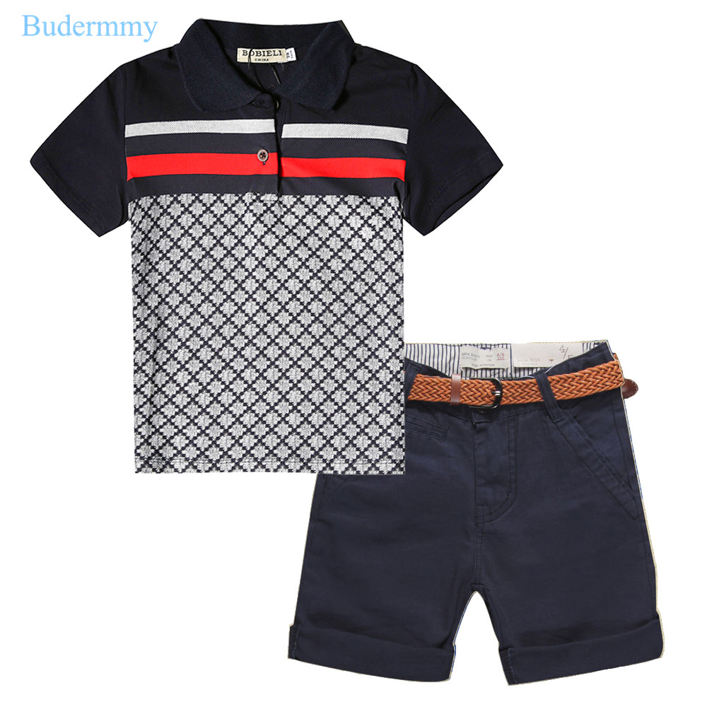Boys Sets Boy T-shirts &amp; Boys Shorts Cotton Tracksuit Sports Pants Childrens Set for 2 3 4 5 6 7 Years Toddler Boys Clothes Set<br>