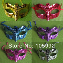 Retro Metal Venice Carnival Mask 100pcs PVC Roman gladiator children's party Halloween masks man woman children Masquerade mask(China)