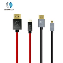Full HD Micro HDMI (Type D) to HDMI (Type A) gold plated (High Speed) Micro HDMI cable 1.4a 2.0 Real 3D and Ethernet capable