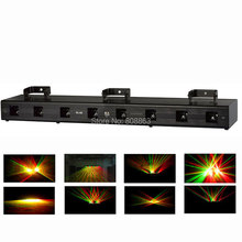 new 500mW 8 Lens 4 Red 4 Green DMX 512 Laser DJ dace Party ktv club Professional Stage dj lighting effects Light system s5(China)