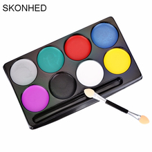 Fashion Flash Tattoo Face Body Paint Oil Painting Art Non-toxic Water Paint Oil Halloween Party Makeup Face Painting Set(China)